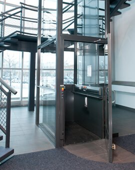 Commercial Wheelchair Lifts Stainless Steel Cab | Apex Elite