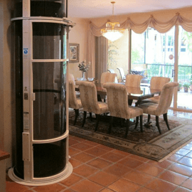 How does a pneumatic elevator work for Home elevator kits
